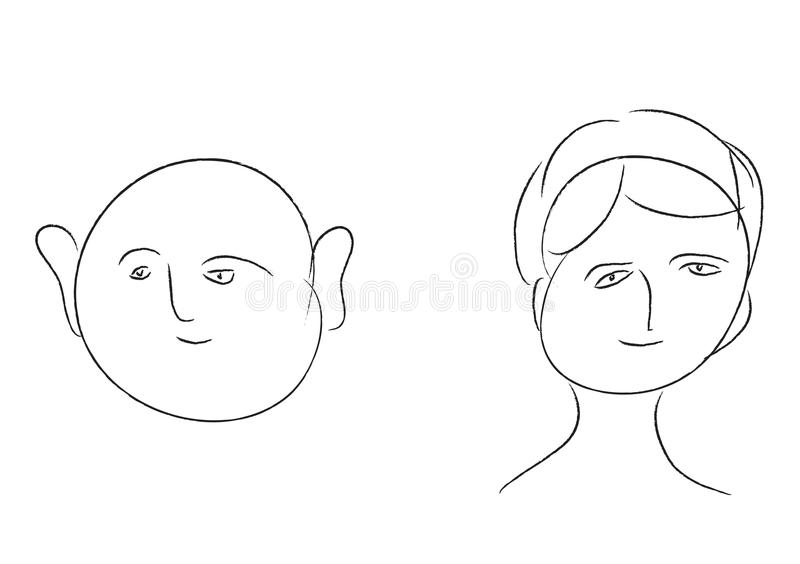 Outline humans