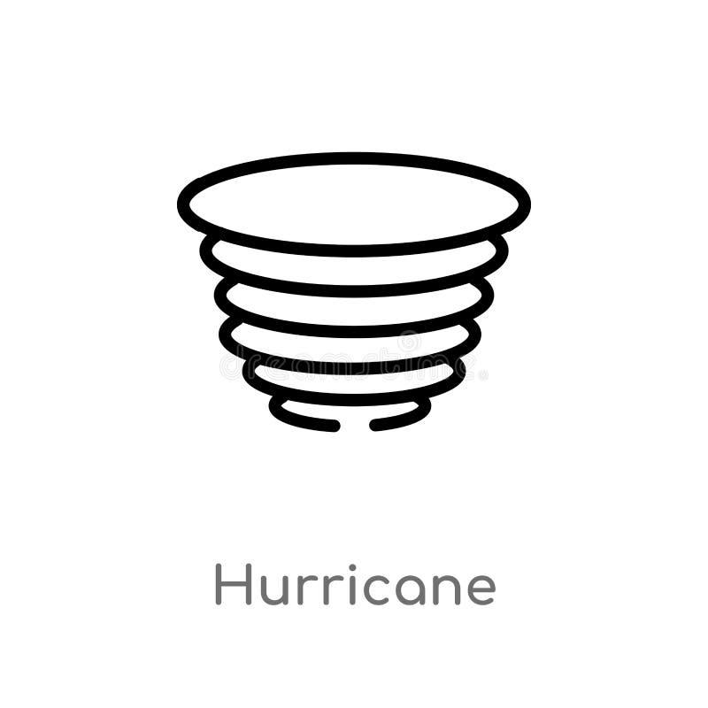 Outline hurricane vector icon. isolated black simple line element illustration from meteorology concept. editable vector stroke. Hurricane icon on white stock illustration