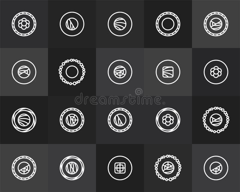 Outline icons thin flat design, modern line stroke royalty free illustration
