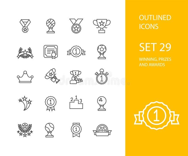 Outline icons thin flat design, modern line stroke vector illustration