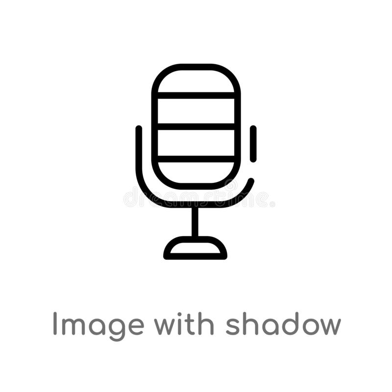 outline image with shadow interface vector icon. isolated black simple line element illustration from user interface concept. stock illustration