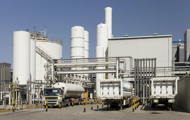 Download Outline Of Industrial Facility Stock Image - Image: 25355785