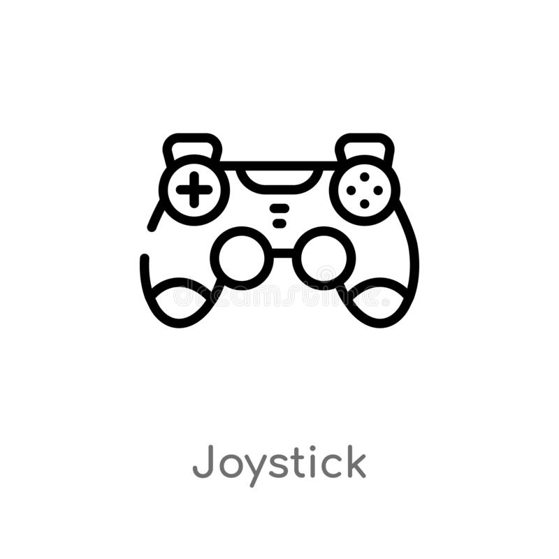 outline joystick vector icon. isolated black simple line element illustration from electronic devices concept. editable vector vector illustration