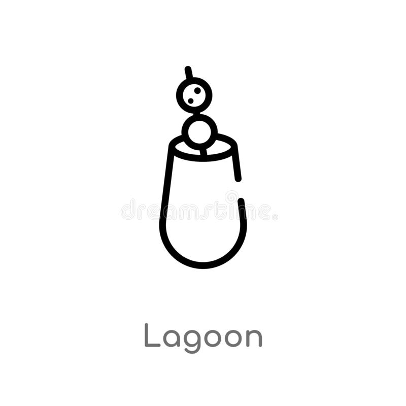 Outline lagoon vector icon. isolated black simple line element illustration from drinks concept. editable vector stroke lagoon. Icon on white background stock illustration