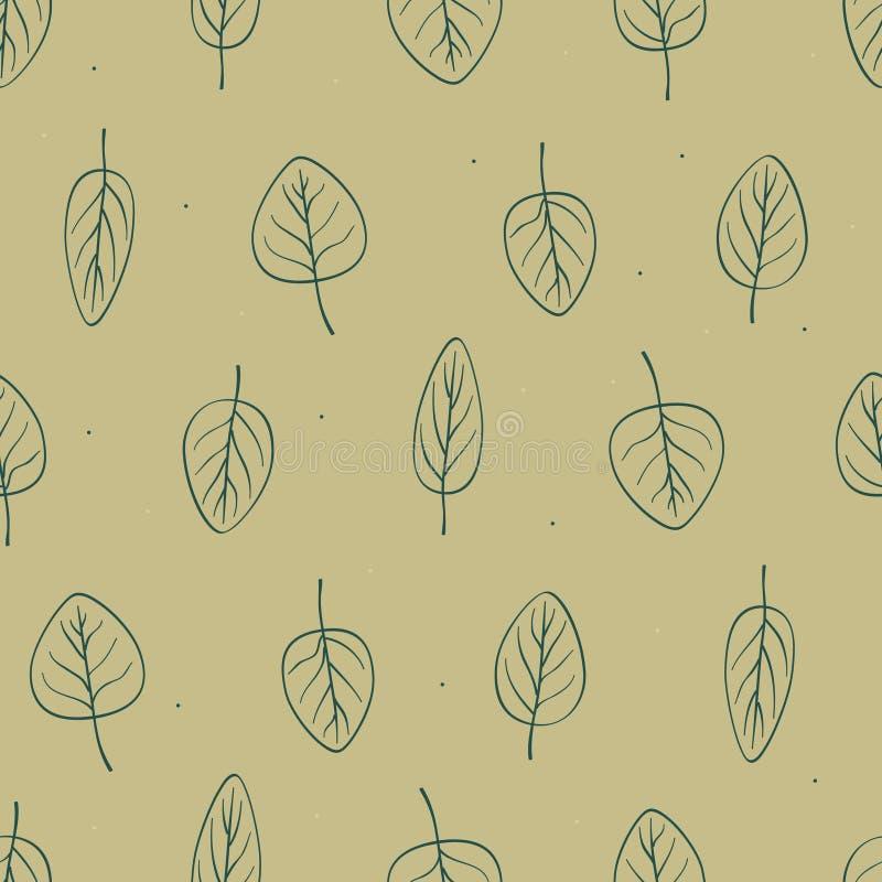Outline leaves royalty free illustration