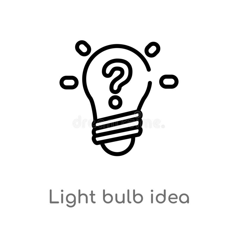 outline light bulb idea vector icon. isolated black simple line element illustration from technology concept. editable vector vector illustration