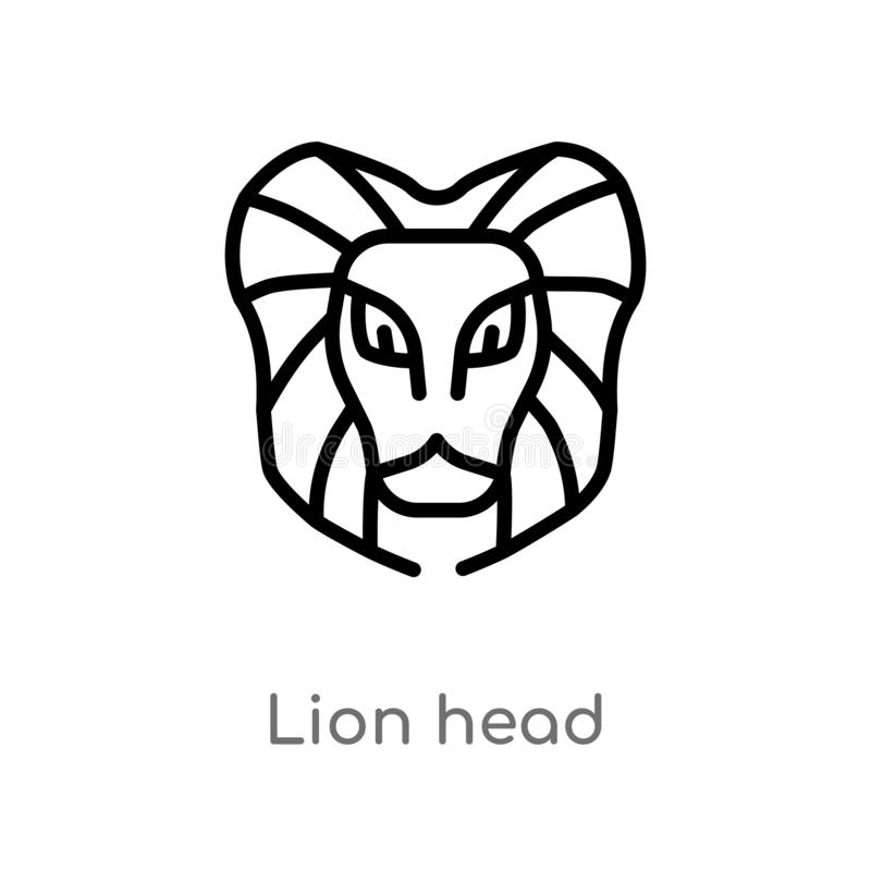 Basic Lion Outline – Lion outline based on johnny_automatic's a lion from scan this book.