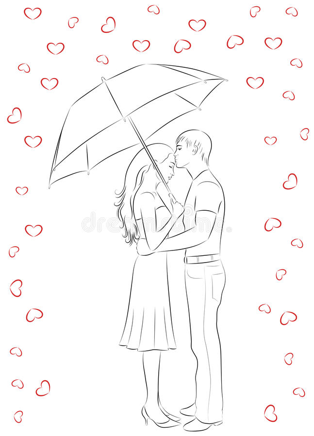Download Outline Of Love. Royalty Free Stock Photography - Image: 10821217