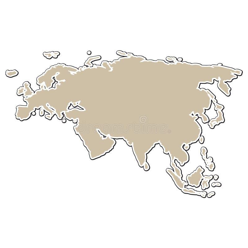 Outline Of The Map Stock Illustration Illustration Of Border - Blank map of eurasia