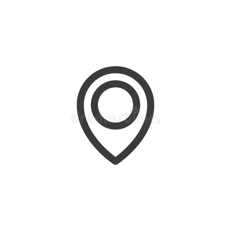 Outline map location icon. Location tag. Element for design ui app website interface. Position pin.  vector illustration