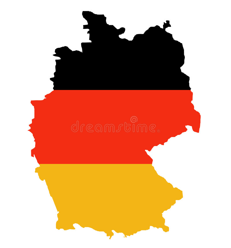 Free Outline Map Of Federal Republic Of Germany Royalty Free Stock Photography - 7701157