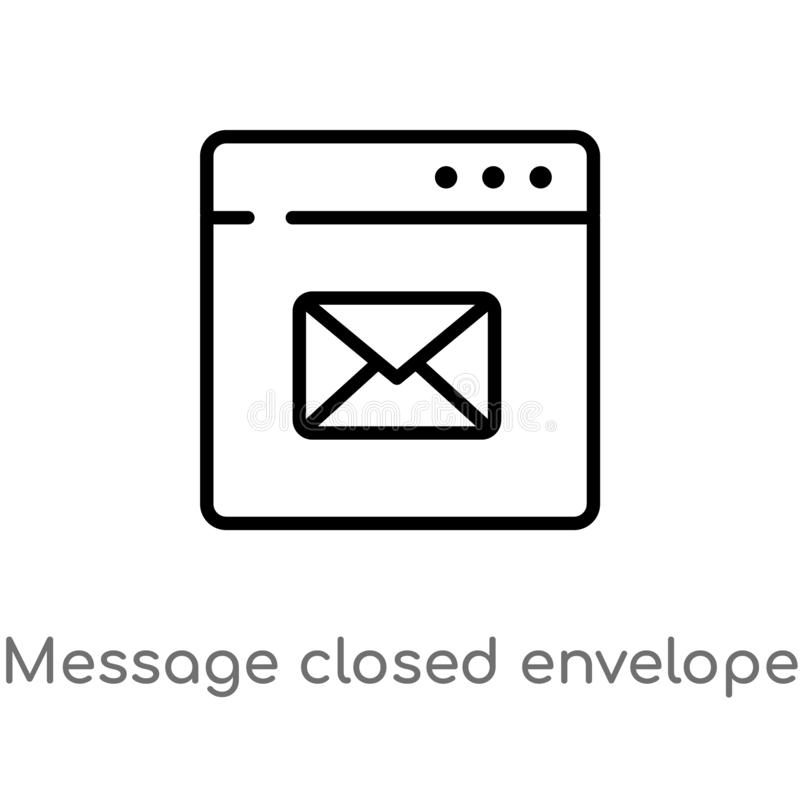 outline message closed envelope vector icon. isolated black simple line element illustration from web concept. editable vector vector illustration