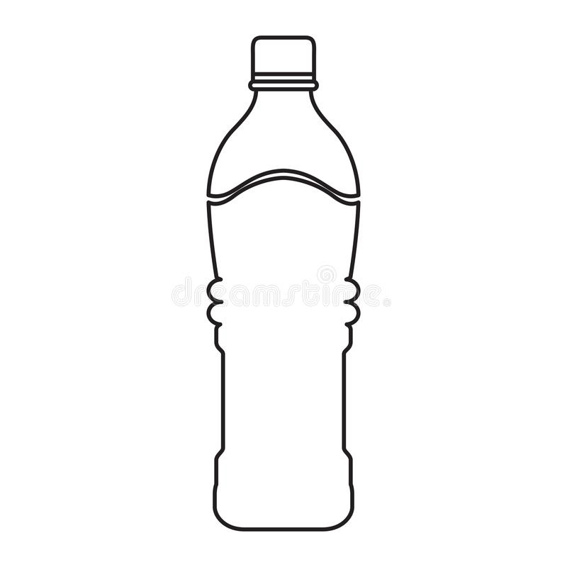 Mineral water bottle. Outline of a mineral water bottle, Vector illustration vector illustration