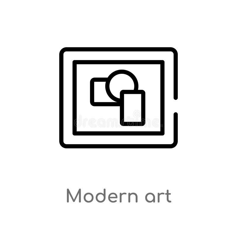 Outline modern art vector icon. isolated black simple line element illustration from museum concept. editable vector stroke modern. Art icon on white background stock illustration
