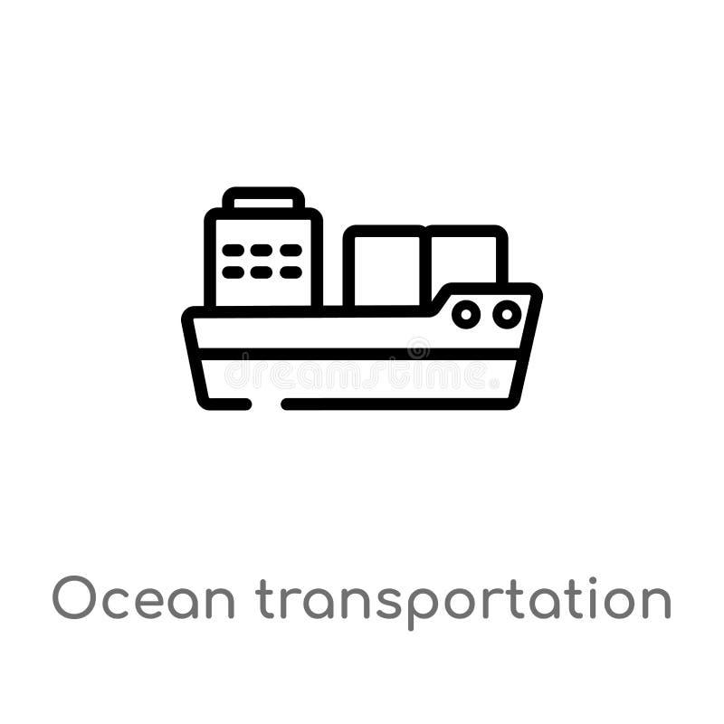 Ocean Icon On White Background  Simple Element Illustration