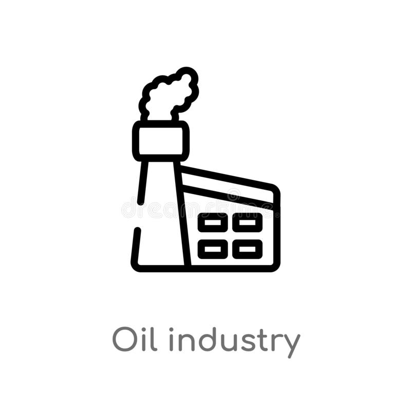 Outline oil industry vector icon. isolated black simple line element illustration from industry concept. editable vector stroke. Oil industry icon on white vector illustration
