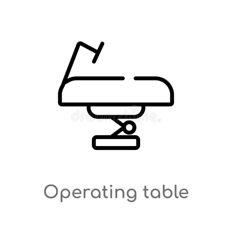outline operating table vector icon. isolated black simple line element illustration from technology concept. editable vector vector illustration