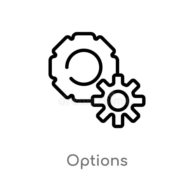 outline options vector icon. isolated black simple line element illustration from social media marketing concept. editable vector vector illustration