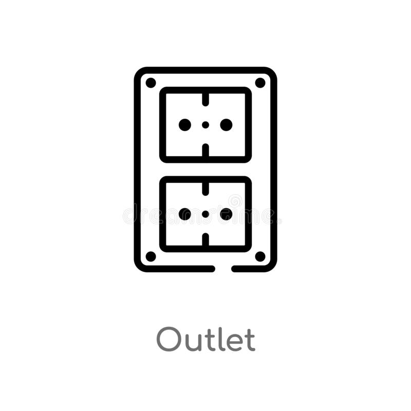 white electric outlet  vector stock vector