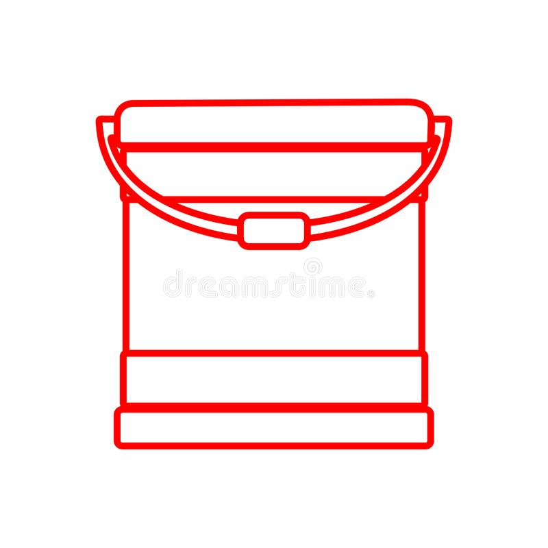 Outline Paint Bucket Object Drawing Vector Illustration Graphic royalty free illustration