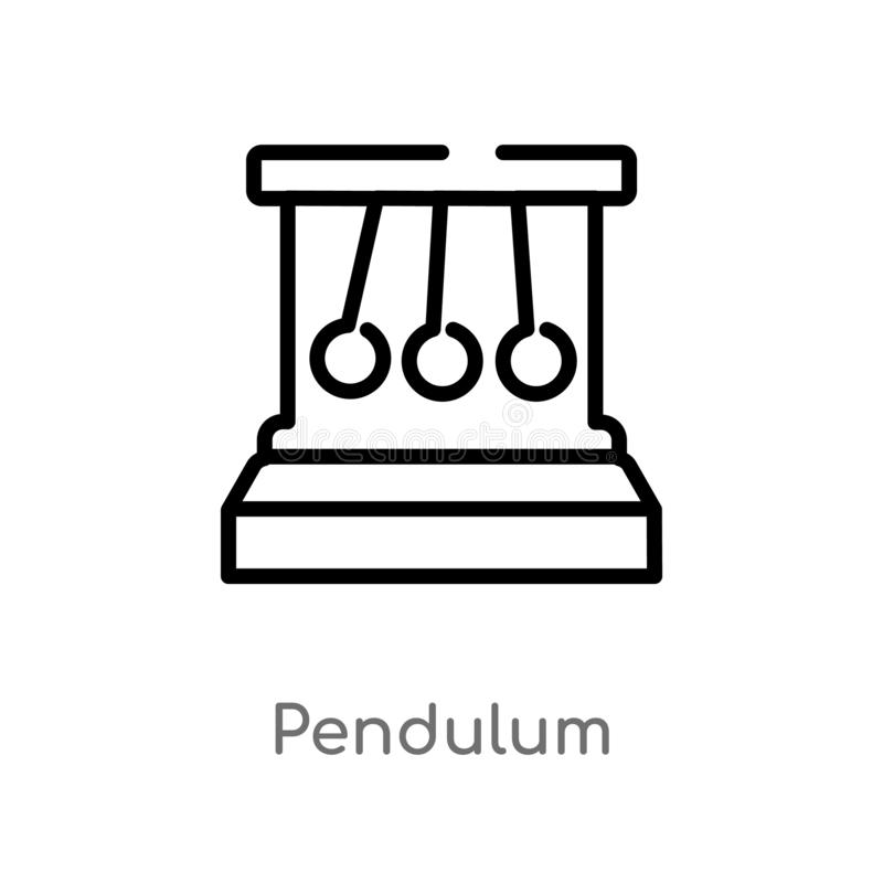 outline pendulum vector icon. isolated black simple line element illustration from science concept. editable vector stroke stock illustration