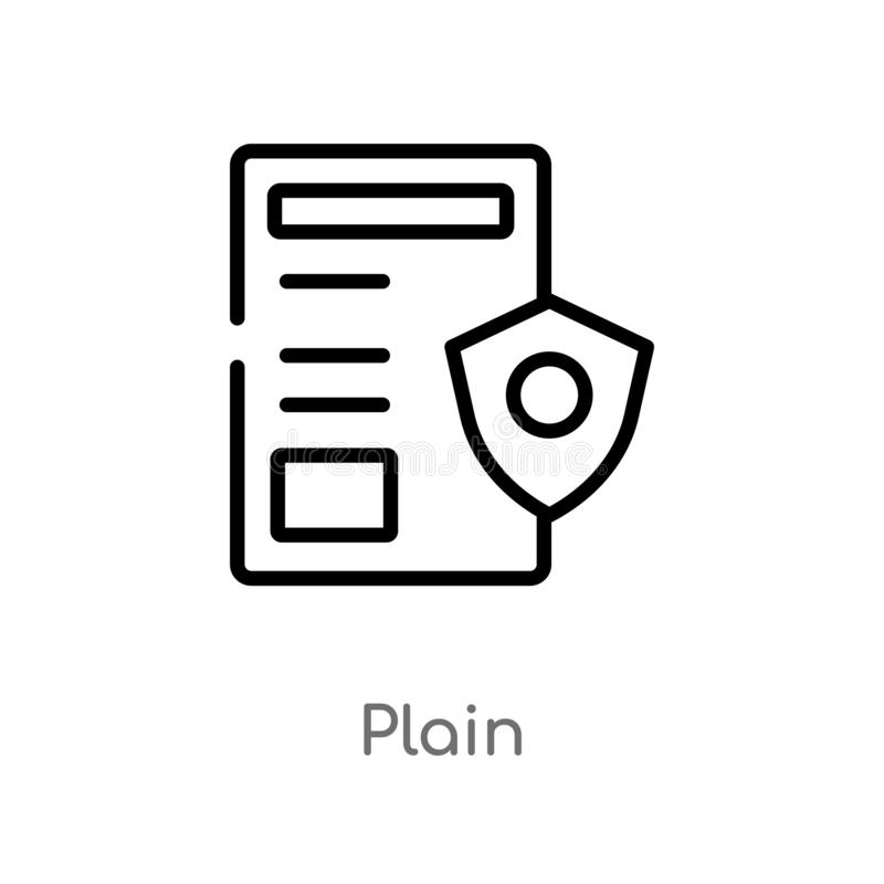outline plain vector icon. isolated black simple line element illustration from gdpr concept. editable vector stroke plain icon on vector illustration