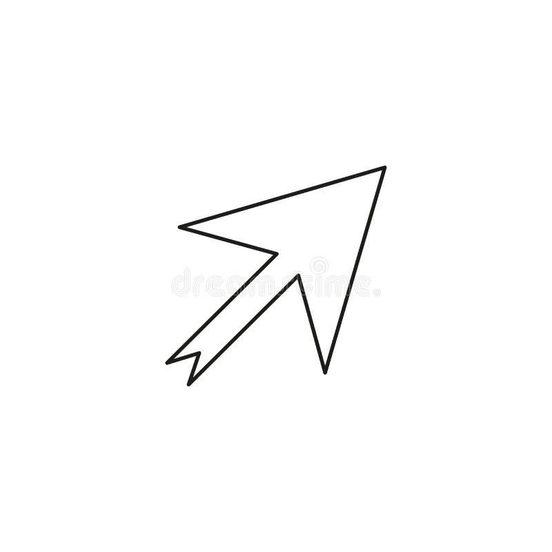 Outline Pointer Icon. Line Cursor symbol for web site design, logo, app, UI. Editable stroke. Vector illustration. EPS10 royalty free illustration