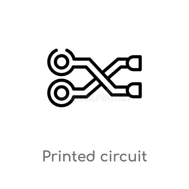 circuit design in black stock illustration  illustration of design