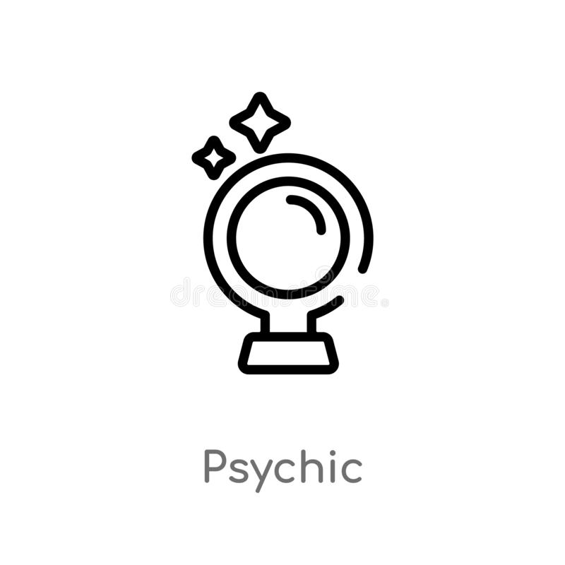 outline psychic vector icon. isolated black simple line element illustration from user interface concept. editable vector stroke vector illustration