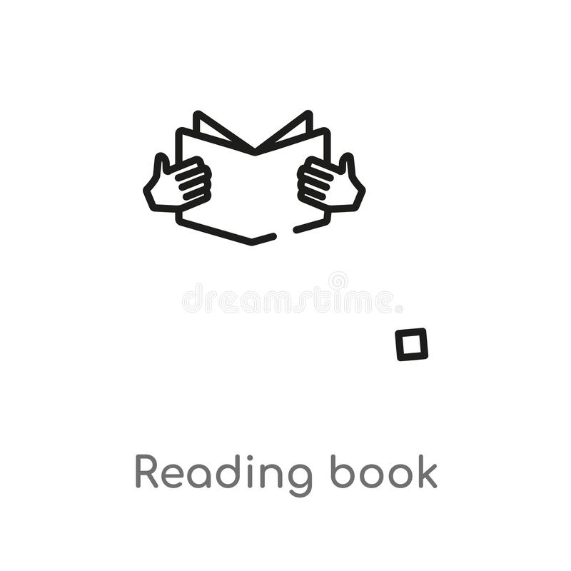 Outline reading book vector icon. isolated black simple line element illustration from education concept. editable vector stroke. Reading book icon on white vector illustration