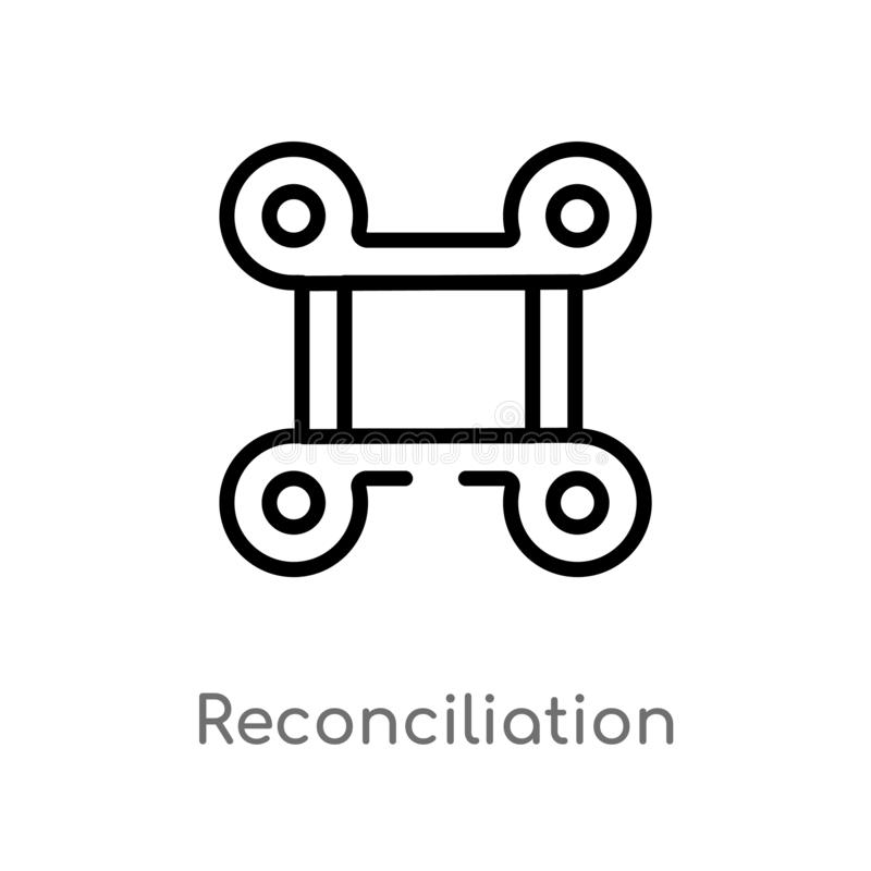 outline reconciliation vector icon. isolated black simple line element illustration from zodiac concept. editable vector stroke vector illustration