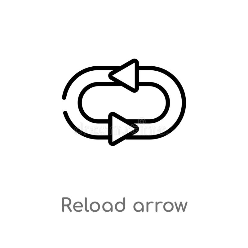 outline reload arrow vector icon. isolated black simple line element illustration from ultimate glyphicons concept. editable vector illustration