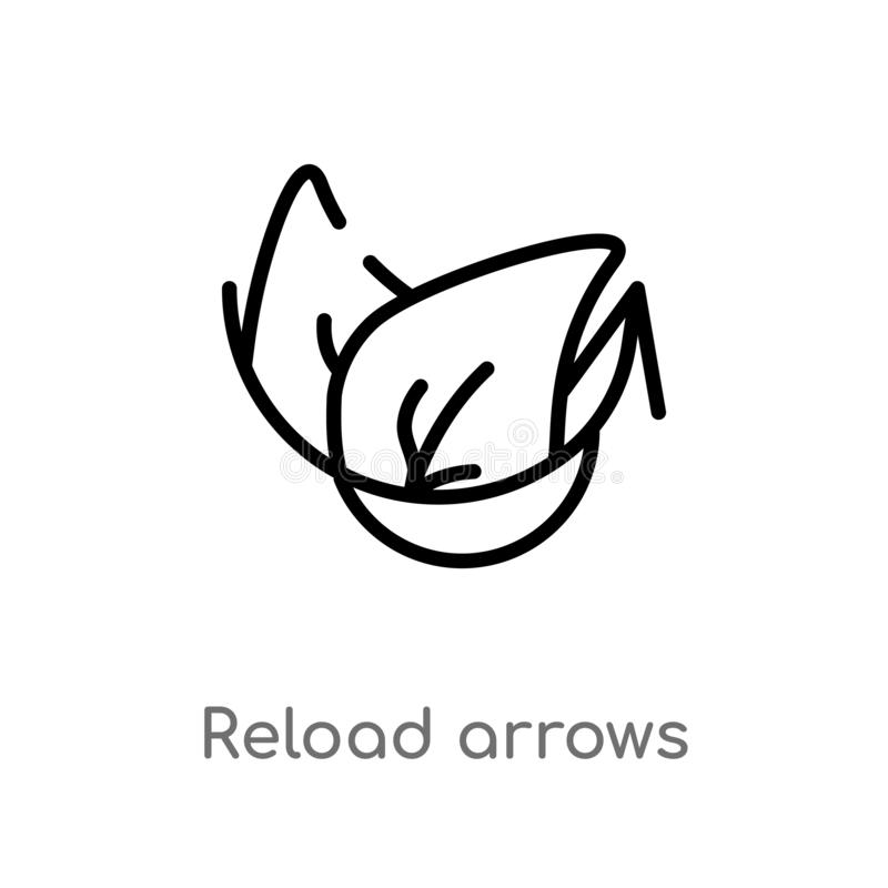 outline reload arrows vector icon. isolated black simple line element illustration from ecology concept. editable vector stroke stock illustration