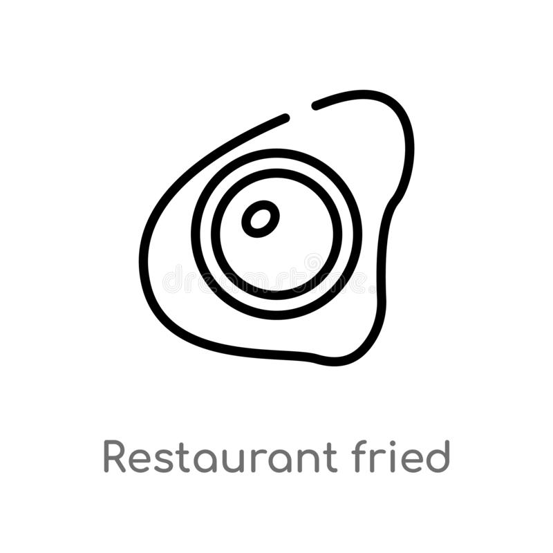 outline restaurant fried egg vector icon. isolated black simple line element illustration from bistro and restaurant concept. vector illustration