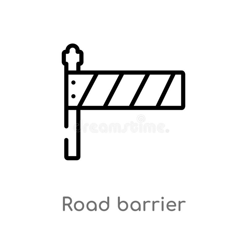 outline road barrier vector icon. isolated black simple line element illustration from construction concept. editable vector vector illustration