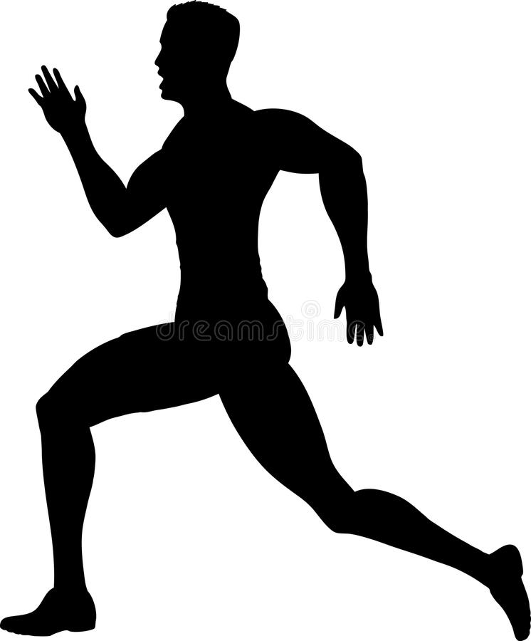 Download Outline of a runner stock vector. Image of movement, sprint - 14126013