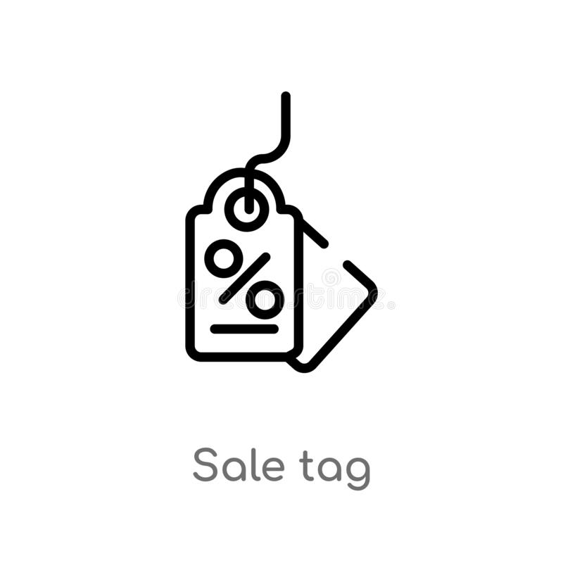 outline sale tag vector icon. isolated black simple line element illustration from business concept. editable vector stroke sale vector illustration
