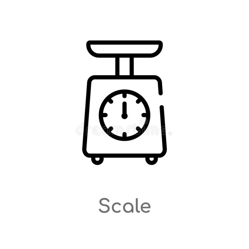 outline scale vector icon. isolated black simple line element illustration from delivery and logistic concept. editable vector stock illustration
