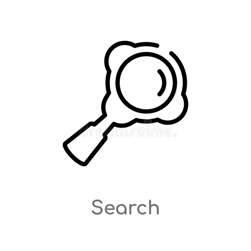 Outline search vector icon. isolated black simple line element illustration from customer service concept. editable vector stroke. Search icon on white stock illustration