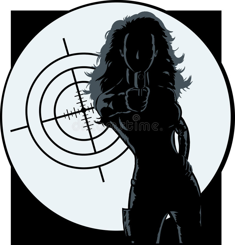 Download Outline of a secret agent stock vector. Image of deadly - 17530773