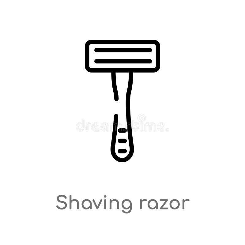 outline shaving razor vector icon. isolated black simple line element illustration from hygiene concept. editable vector stroke royalty free illustration
