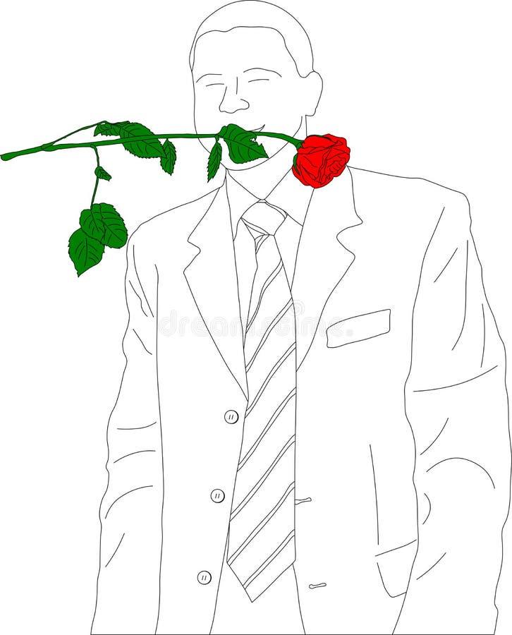 Download Outline Sketch Of Businessman Stock Vector - Image: 4851904