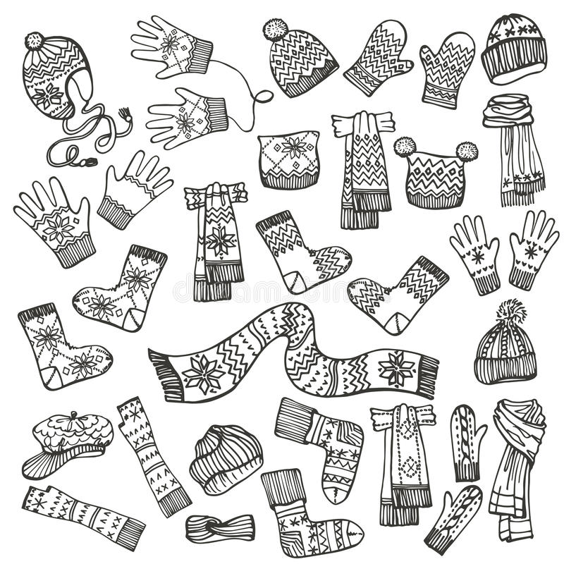 Free Outline Sketchy.Females Knitted Clothing Royalty Free Stock Image - 47924036