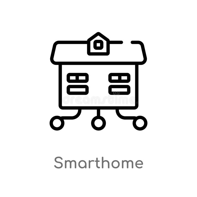 outline smarthome vector icon. isolated black simple line element illustration from other concept. editable vector stroke vector illustration