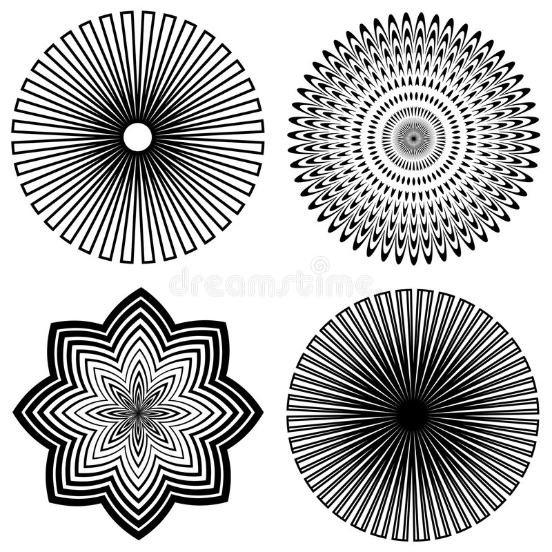 Outline Spirals Stock Photo