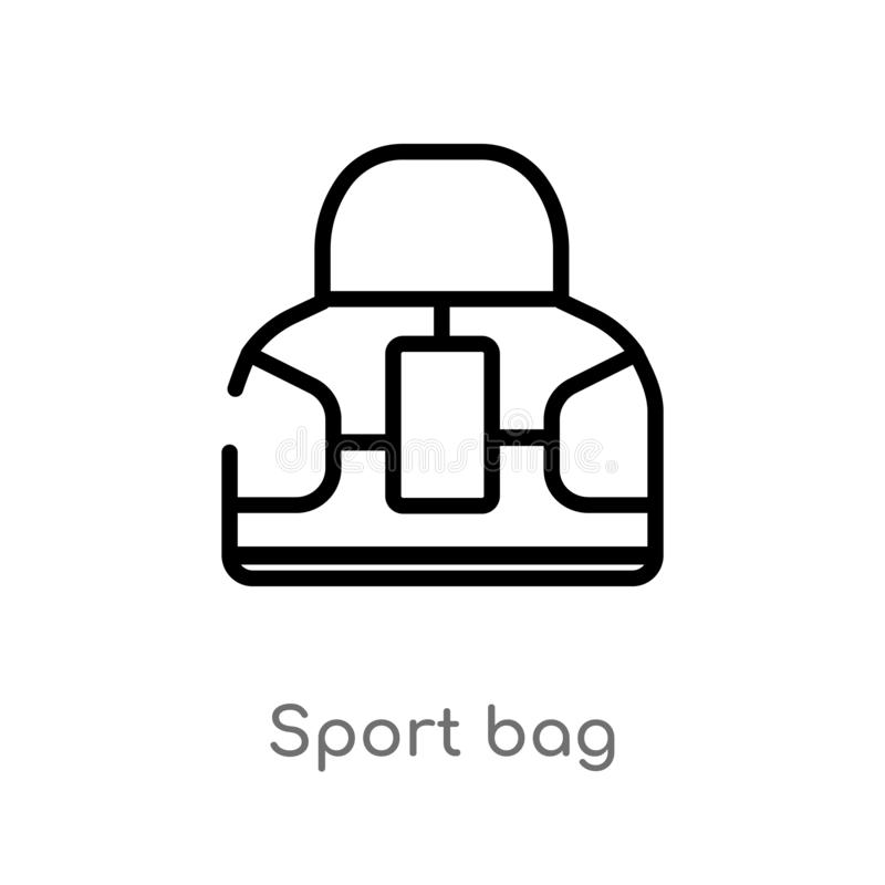 Vector Football Sports Bag