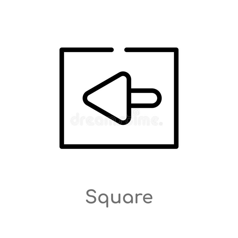 outline square vector icon. isolated black simple line element illustration from arrows 2 concept. editable vector stroke square royalty free illustration