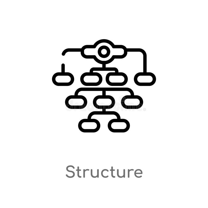 Outline structure vector icon. isolated black simple line element illustration from business concept. editable vector stroke. Structure icon on white background royalty free illustration