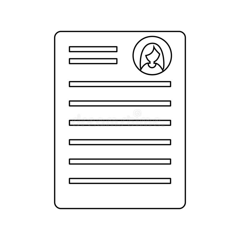 Outline summary Icon. Simple style illustration isolated stock illustration