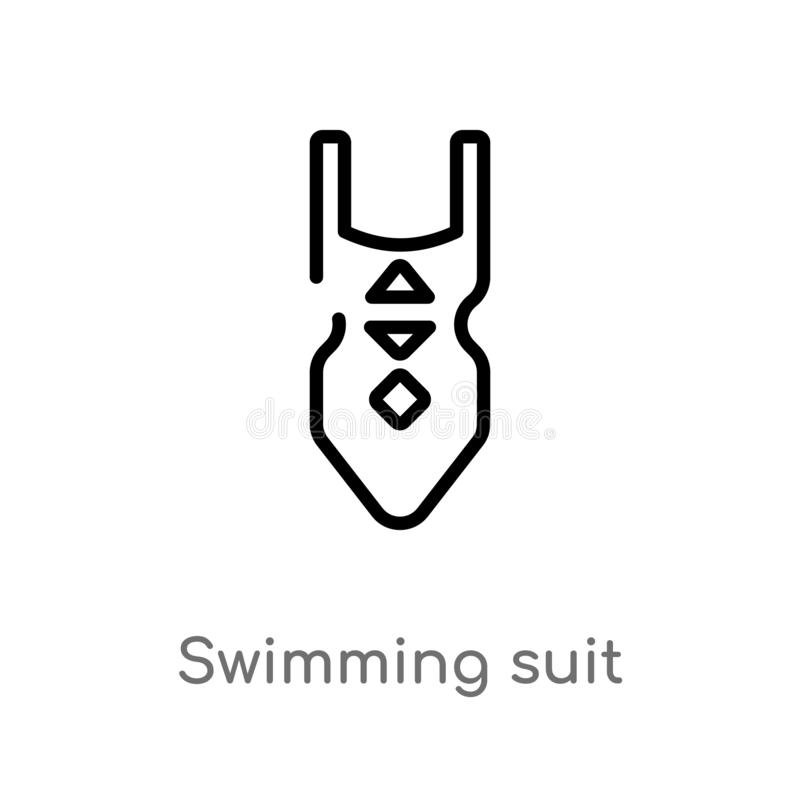 outline swimming suit vector icon. isolated black simple line element illustration from holidays concept. editable vector stroke royalty free illustration